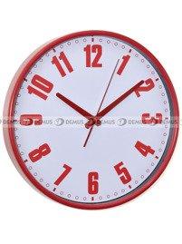 zegar z czerwonymi cyframi