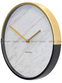 Zegar ścienny Karlsson Marble Delight Gold White KA5606WH